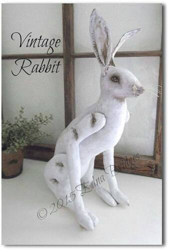 """Cloth Folk Art Pattern """"Vintage Rabbit"""" By Edna Bridges"""