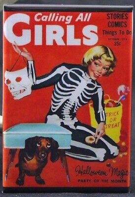 Comic Book Girl Halloween (Calling All Girls Halloween Comic Book Cover 2