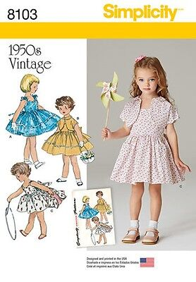 SEWING PATTERN! MAKE GIRLS 50S VINTAGE STYLE DRESS~JACKET! SUMMER CLOTHES 3-8](50s Girls Clothes)