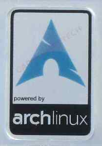 powered by arch Linux Aluminium Metal Decal Sticker Computer PC Laptop Badge