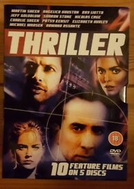 10 Thriller Feature Films on 5 DVDs