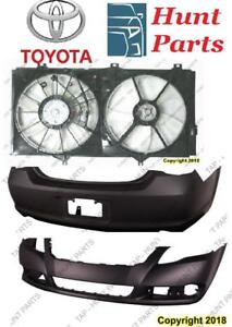 Toyota Avalon 2005 2006 2007 2008 2009 2010 Front Rear Bumper Cover Stay Absorber AC Compressor Condenser Cooling Fan