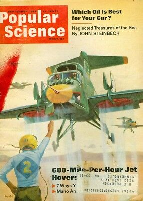1966 Popular Science Magazine: 600 MPH Jet/Which Oil is Best for Your