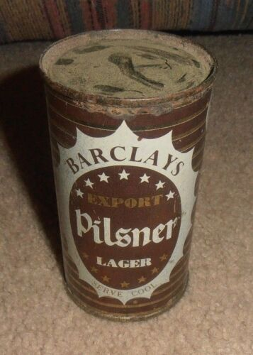 VINTAGE & RARE BARCLAYS EXPORT PILSNER LAGER VERY OLD BEER CAN ENGLAND 12 OZ.