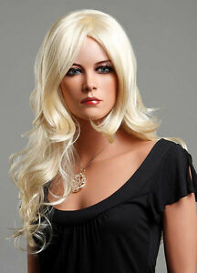 Ladies Long Blonde Wig Red Black Brown Fashion Wig Straight Wavy Vogue Wigs UK