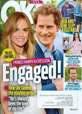 2015 Ok  Magazine  Prince Harry   Cressida Engaged Josh Duggar Abandoned