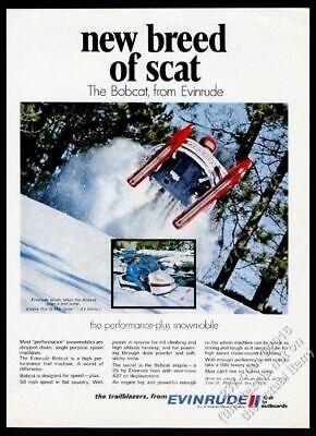 1970 Evinrude Bobcat snowmobile color photo vintage print ad