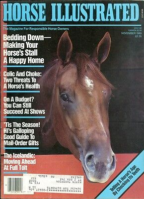 1989 Horse Illustrated Magazine: Bedding Down/Colic & Choke/Icelandic/Teeth Age