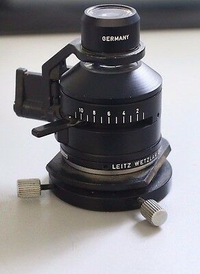 Microscope Part Leitz Germany Condenser Iris 562210 Optics As Is