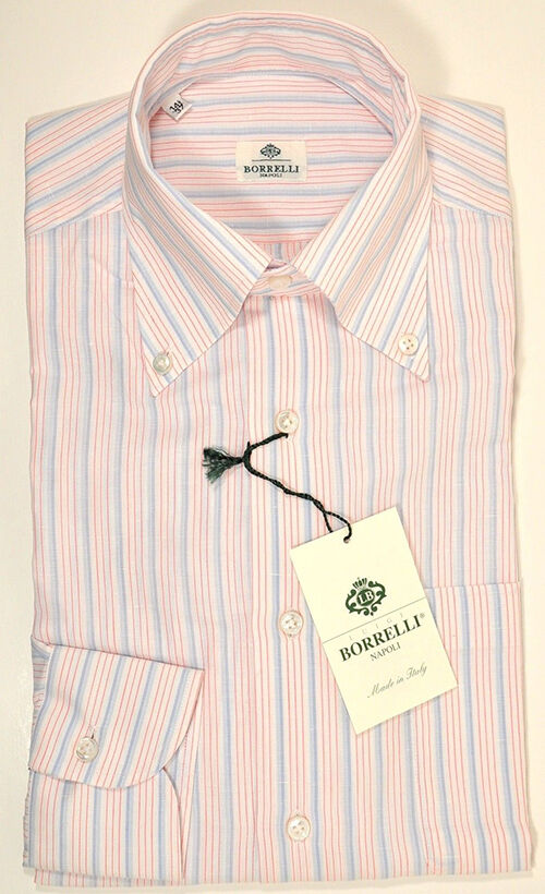 Luigi Borrelli Linen Dress Shirt