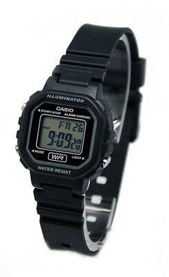 Casio Women's Classic Digital Quartz Black Resin Watch LA-20WH-1A