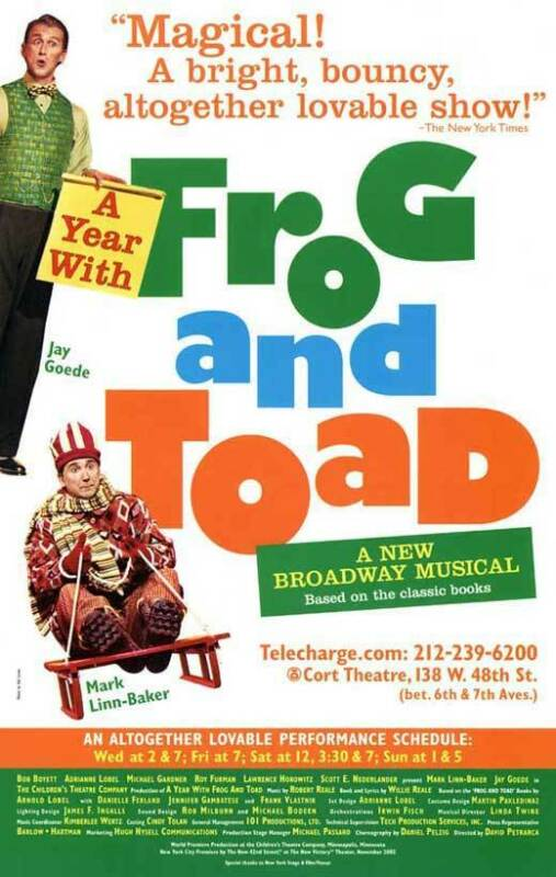 A YEAR WITH FROG AND TOAD (BROADWAY) Movie POSTER 27x40