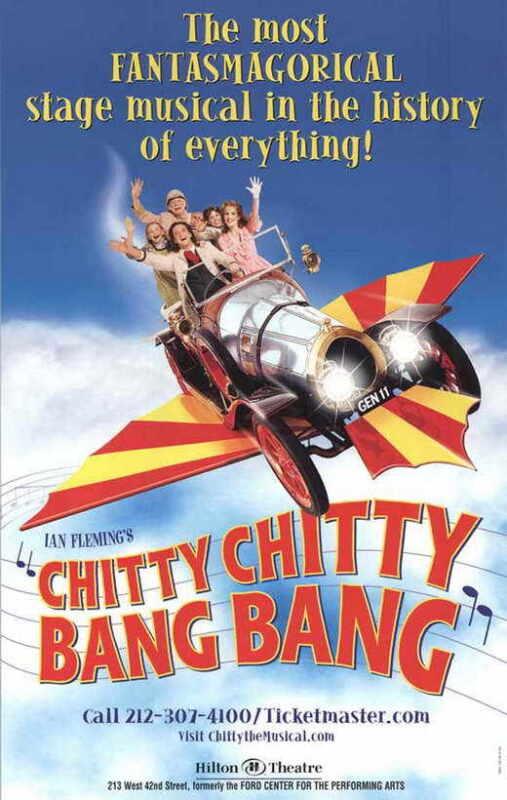 CHITTY CHITTY BANG BANG (BROADWAY) Movie POSTER 11x17