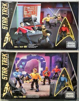 LOT DE 2 Mega Bloks-OVP-Mattel : Star Trek DPH79, DPY05 neuf