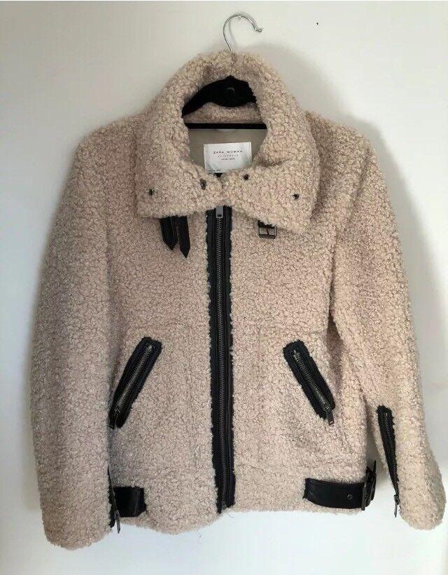latest fashion differently great look Zara teddy/borg biker jacket xs | in York, North Yorkshire | Gumtree