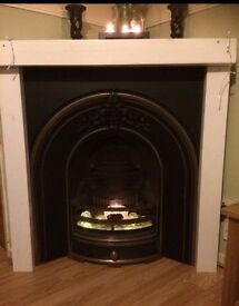 Cast Iron fireplace and BLACK surround