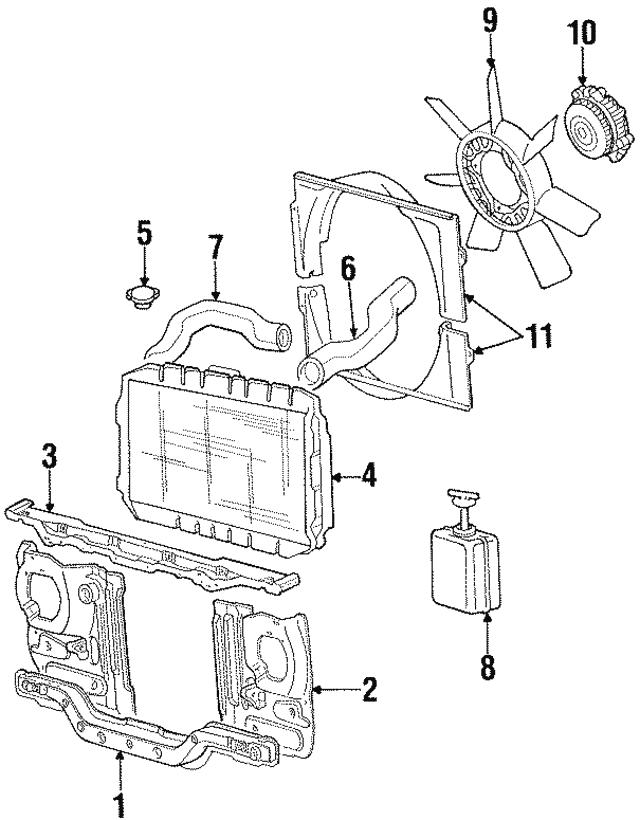New Radiator Cooling Fan Blade For Mitsubishi Montero Montero