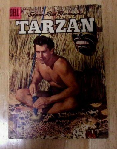 EDGAR RICE BURROUGHS TARZAN DELL #89 SOLID VG+1957 GORDON SCOTT PHOTO