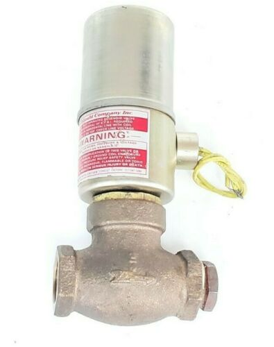 GOULD COMPANY QR-3 SOLENOID VALVE AIR/WATER 120V 5-150PSI 60CY SIZE: 3/4