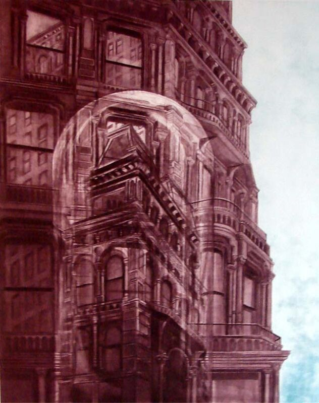 G H Rothe Landmark 1977 Mezzotint Hand Signed On Paper Limited Edition L@@k!