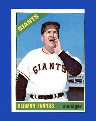 1966 Topps Set Break 537 Herman Franks VG-VGEX GMCARDS  - $2.25