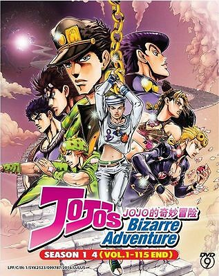 Dvd Anime Jojos Bizarre Adventure Season 1 4  Vol 1 115 End   Free Shipping