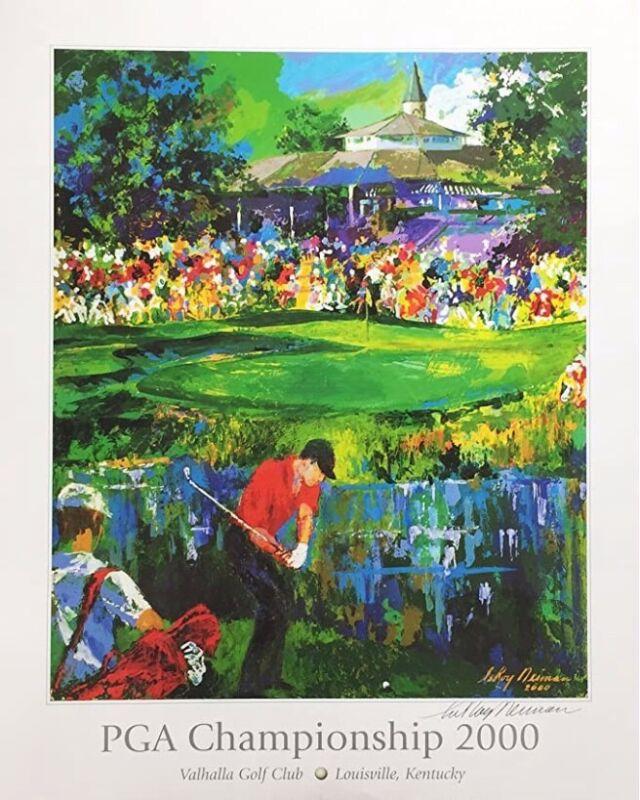 "LeRoy Neiman ""Valhalla Golf Club"" PGA Championship 2000 Hand Signed Lithograph"