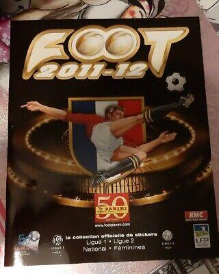 Panini ALBUM STICKERS FOOTBALL football france 2011-2012 vide Empty rare