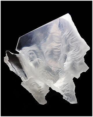 MICHAEL WILKINSON Rare Acrylic Sculpture Atlanteans Signed Nude Female Artwork
