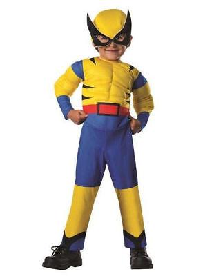 Kostüm Muskeln WOLVERINE 86/92/98 Karneval Fasching Junge Overall  USA (Jungen Wolverine Muskel Kostüm)