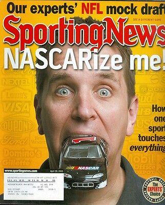 2005 Sporting News Magazine  Nascar  1 Brian Vickers Nfl Draft