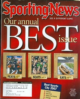 2007 Sporting News Magazine: Devin Hester/Best Feats, Seats,