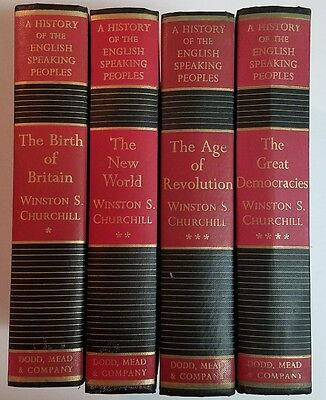History Of The English Speaking Peoples By Churchill Complete 4 Volume Set Bomc