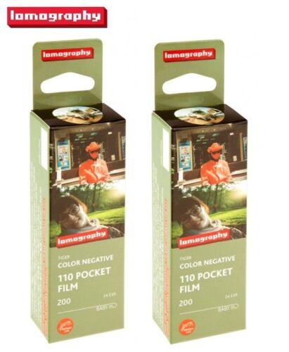 2 x Lomography LOMO Tiger 200 ISO Color 110 Color Netgative Pocket Film US