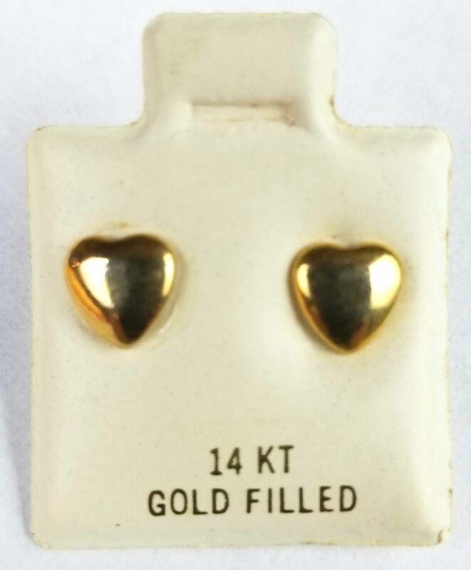 14K Gold Filled Heart Stud Fashion Earrings Adult/Kids/Teenager