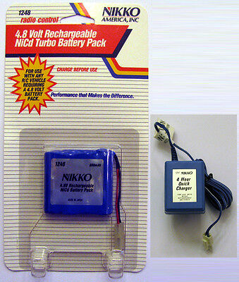 - Nikko 4.8V NiCd Battery Pack and Charger