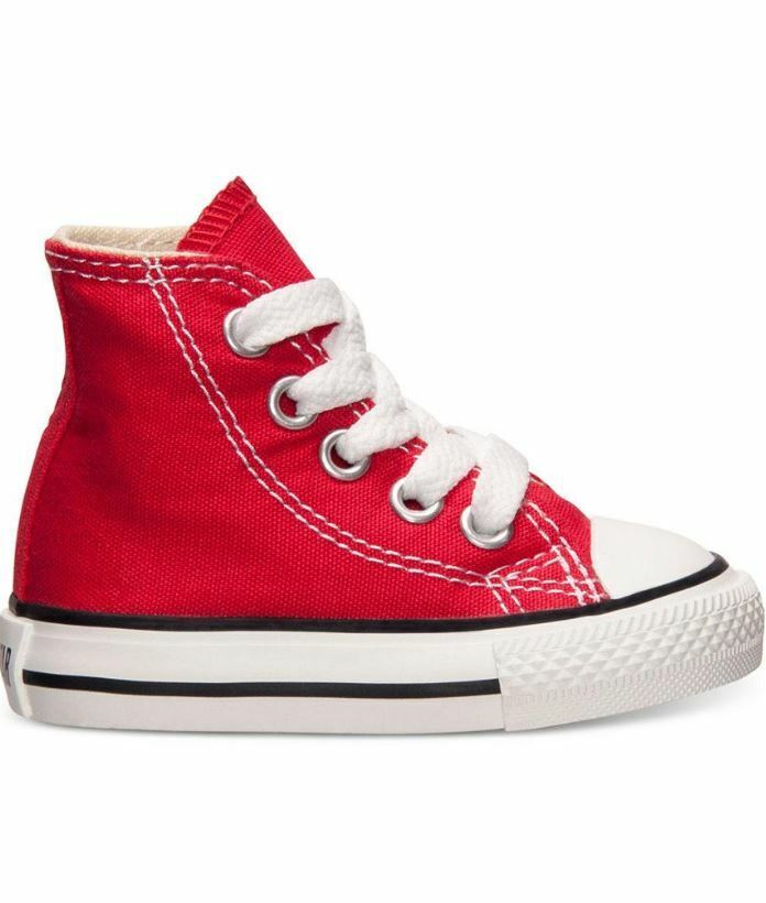 Converse Infant & Toddler's CHUCK TAYLOR ALL STAR HI Shoes Red 7J232 c 1