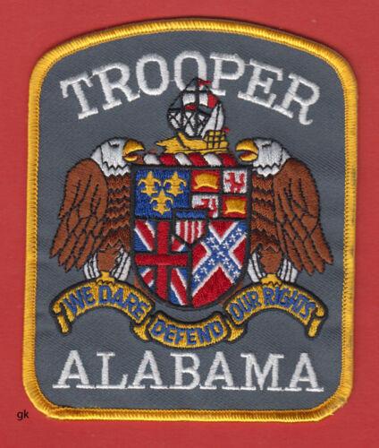 ALABAMA TROOPER POLICE SHOULDER PATCH.   (Color)