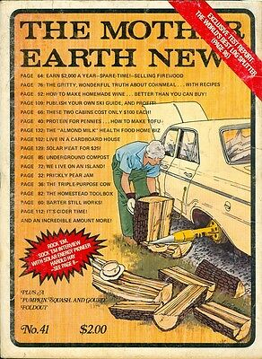 1976 Mother Earth News Magazine #41: Best Log Splitter/Sell (Best Log Splitters For Sale)