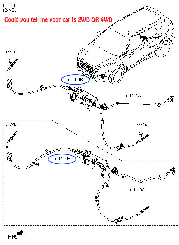 Genuine Hyundai 59710-29100-FK Parking Brake Lever Assembly
