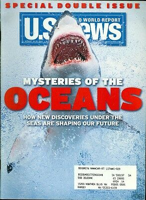 2004 U S  News   World Report Magazine  Mysteries Of The Oceans   Shark On Cover