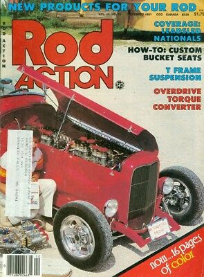 1981 Rod Action Magazine: Custom Bucket Seats/T Frame Suspension/Leadsled Nats for sale  Anoka