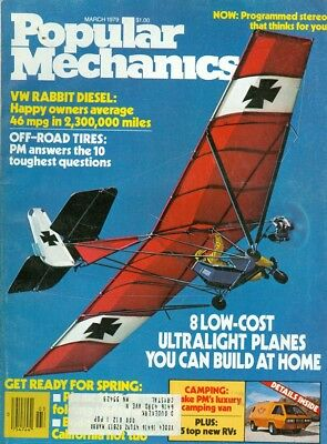 1979 Popular Mechanics Magazine: Ultralight Planes/ VW Rabbit Diesel/Luxury Vans for sale  Shipping to Canada