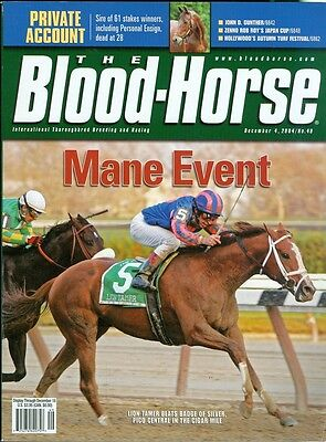Lion Tamer Horse (2004 The Blood-Horse Magazine #49: Lion Tamer's Cigar Mile/Private Account)