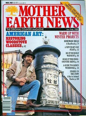 1989 Mother Earth News Magazine  115  American Art  Restoring Woodstove Classics
