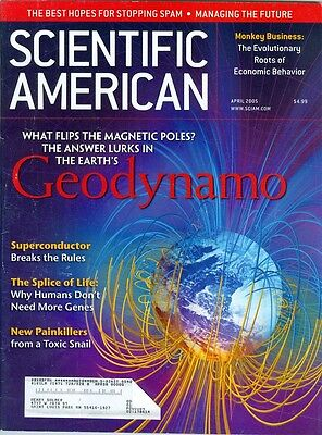 2005 Scientific American  Geodynamo Superconductor New Painkillers Stopping Spam