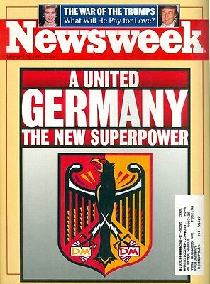 1990 Newsweek Magazine: United Germany/Donald Trump War With Ivana