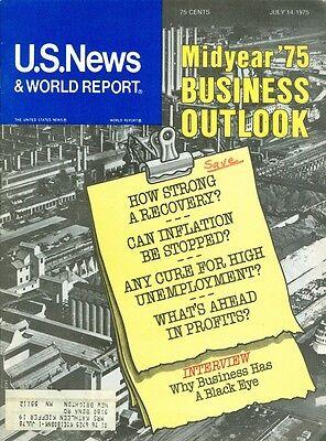 1975 U S  News   World Report Magazine  Midyear 75 Business Outlook
