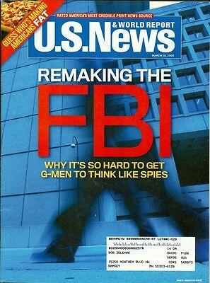 2005 U S  News   World Report Magazine  Remaking The Fbi Americans Fat