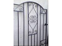 Garden gate black metal 6ft x 3ft